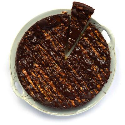 Walnotenkoek met karamel